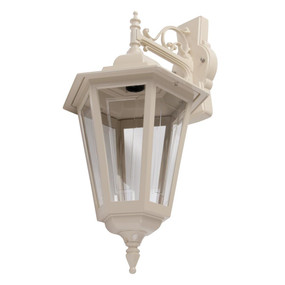 Turin Large Downward Wall Light - Beige Finish / B22
