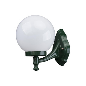 Siena 20cm Sphere Wall Bracket - Green Finish / E27