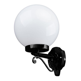 Siena 25cm Sphere Wall Light - Black Finish / E27