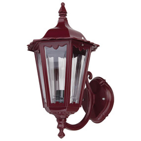 Chester Upward Wall Light - Burgundy Finish / B22