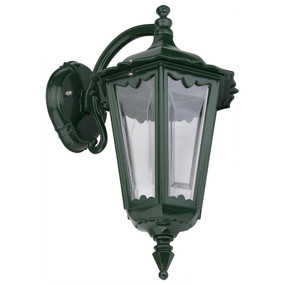 Chester Downward Wall Light - Green Finish / B22
