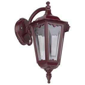 Chester Downward Wall Light - Burgundy Finish / B22