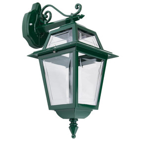 Avignon Downward Wall Light - Green / B22