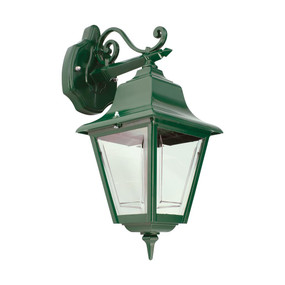 Paris Downward Wall Light - Green Finish / B22