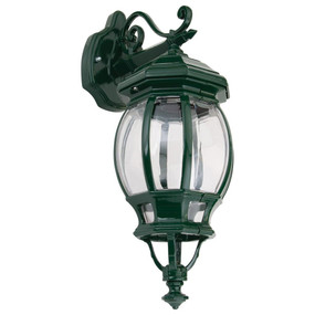 Vienna Downward Wall Light - Green Finish / B22