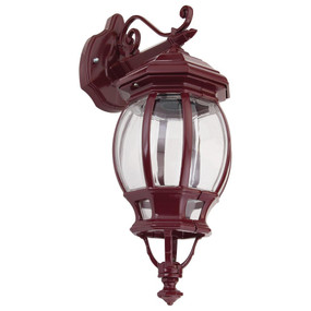 Vienna Downward Wall Light - Burgundy Finish / B22