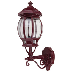 Vienna Upward Wall Light - Burgundy Finish / B22
