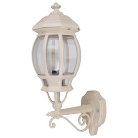 Vienna Upward Wall Light - Beige Finish / B22