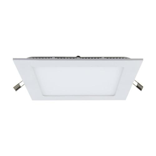 Square 9W LED Panel Light - Silver Frame / White LED