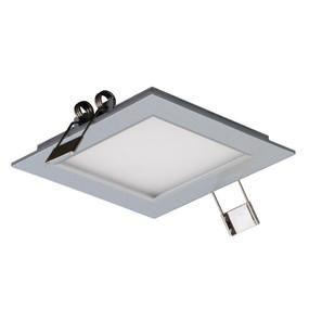 Square 3W LED Panel Light - Silver Frame / White LED