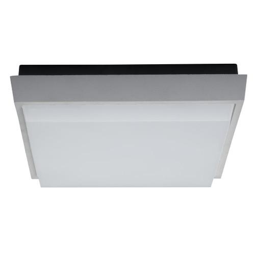 Square 30W Splashproof LED Ceiling Light - Silver Trim / Warm White LED