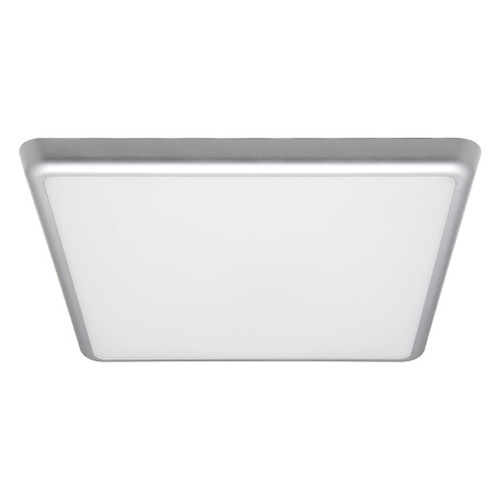 Square 240V 25W 30cm Slimline LED Ceiling Light - Silver Frame / Warm White LED