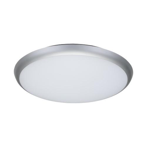 Round 35W Slimline LED Ceiling Light - Silver Frame / White LED