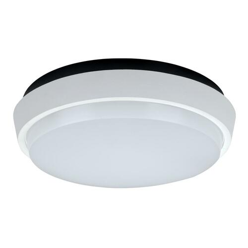 Round 20W Splashproof LED Ceiling Light - Satin White Trim / White LED