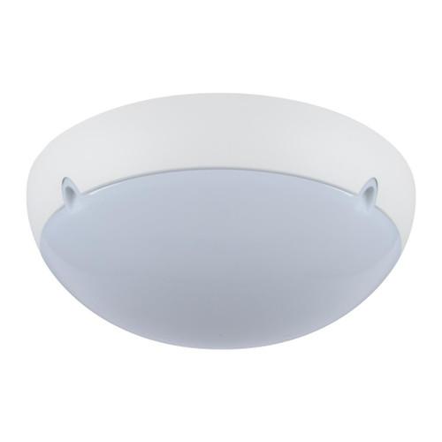 Large Round 240V Polycarbonate Ceiling Light - White Trim / E27