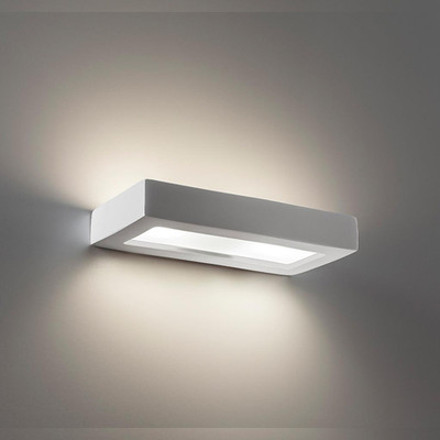 Ceramic Frosted Glass 30cm Wall Light - Raw / G9