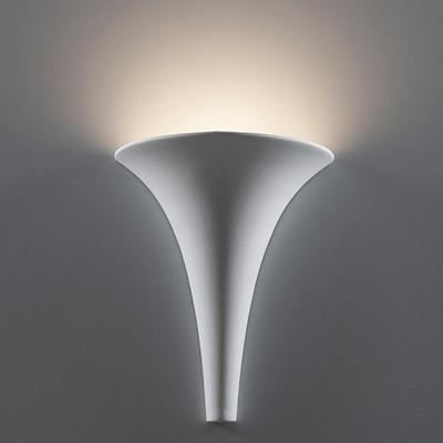 Ceramic Funnel Wall Light - Raw / G9