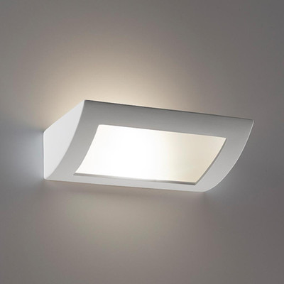 Ceramic Frosted Glass 30cm Wall Light - Raw / E27