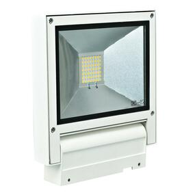 Adjustable 240V 20W LED Floodlight - White Finish / White LED
