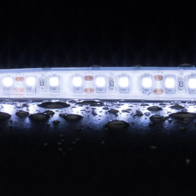 Flexible 120 LED Weatherproof Strip - 10W 12V / White LED