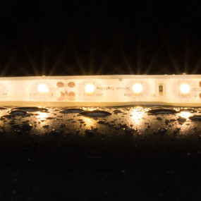 Flexible 60 LED Weatherproof Strip - 4.8W 12V / Warm White LED