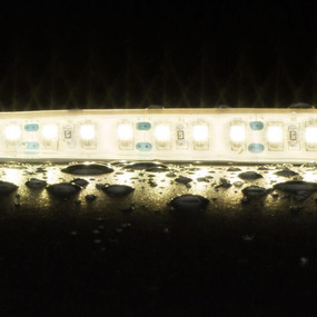 Flexible 120 LED Weatherproof Strip - 10W 12V / Neutral White LED