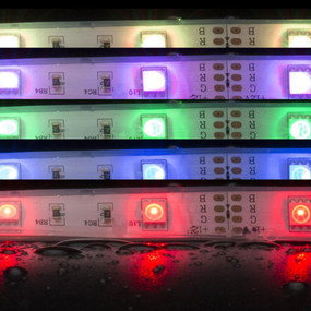 Waterproof RGB LED Strip Light - 12V IP66 7.2W 16 Million Colours