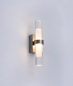 Charming LED Interior Upright Wall Light - Satin Nickel Alum