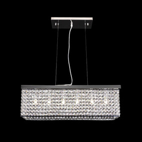 Crystal LED Pendant - Length 600mm / White LED