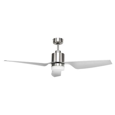 Brilliant DC Ceiling Fan LED Light Remote 52 Inch Chrome - Cayman