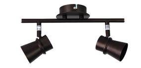 Ceiling Lights - 2 Adjustable GU10 Spotlights Bronze O200