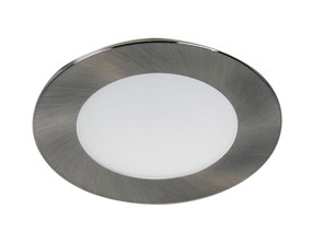 LED Downlight - Dimmable 13W 850lm IP20 3000K 108mm Chrome Low Profile