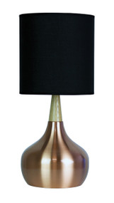 Global Table Lamp Brushed Copper Complete