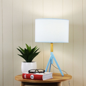 Table Lamp - Contemporary Powder Blue