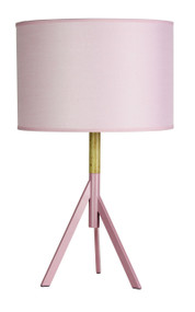 Contemporary Table Lamp Complete Blush Pink