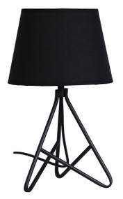 Sophisticated Table Lamp and Shade Black
