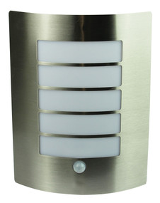 Stylized Sensor Wall Light Stainless