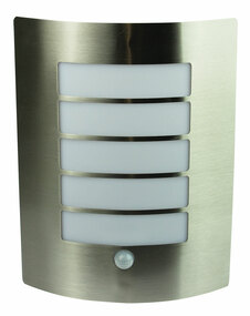 Motion Sensor Wall Light - IP44 280mm Stainless Steel