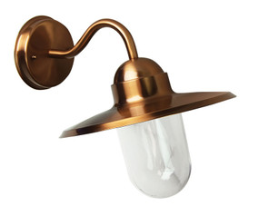 Contemporary Outdoor Wall Light Copper Finish
