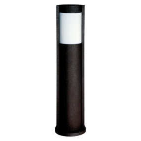 Bollard Light - 240V IP44 E27 650mm Black Oval