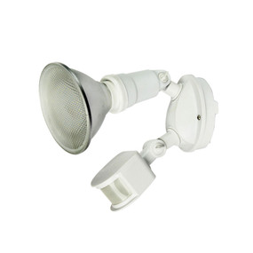 Wall Mounted Flood Light With Sensor - White