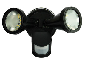 Classic LED Twin Sensor Flood Black