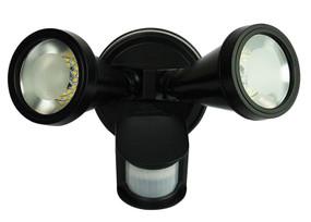 Classic LED Twin Sensor Flood Black