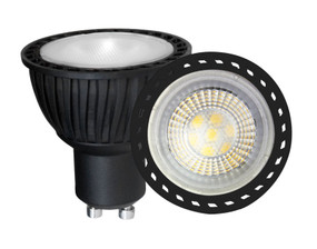 LED GU10 7W 550lm 5000K Black Non-Dimmable Globe