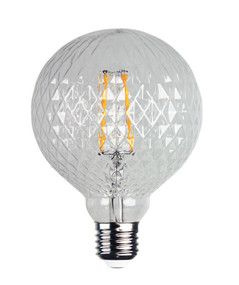 LED Filament Lamp Crystal Pattern E27 2W 2200K