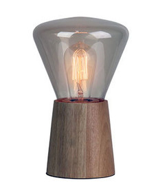 Rustic Table Lamp Wood / Amber