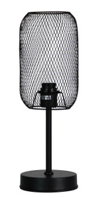Caged Touch Lamp Matt Black Complete