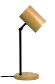Funky Desk Lamp Black and Wood