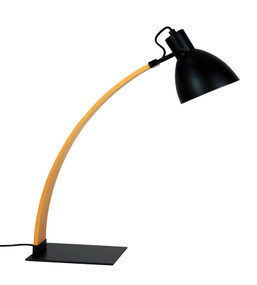 Chic Desk Lamp Oil Rubbed Bronze and Wood