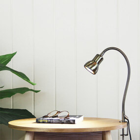 Detailed Clamp Lamp Brushed Chrome